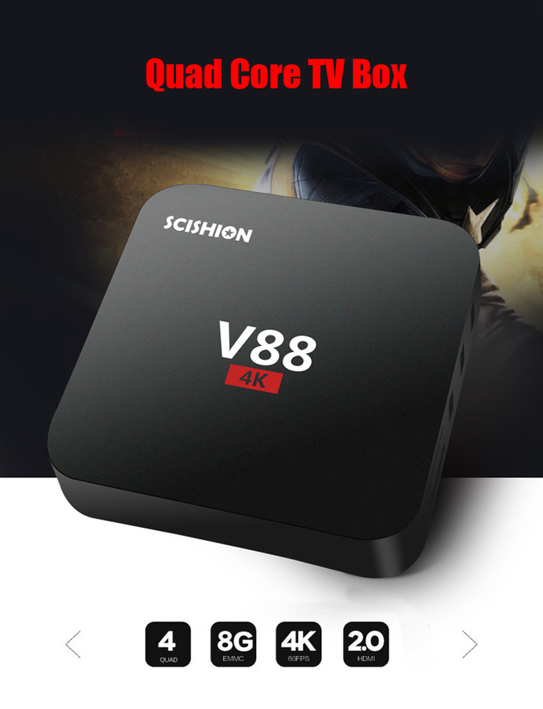 TV Box 4K Ultra HD Android with kodi